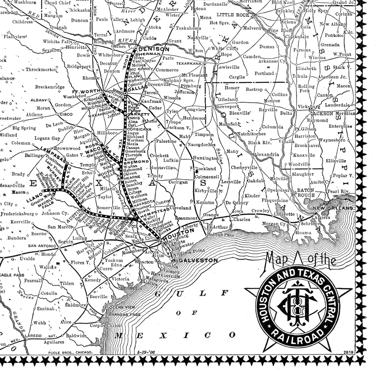 Texas Central Railroad Company Tex Public Timetable And Map - Map of central texas