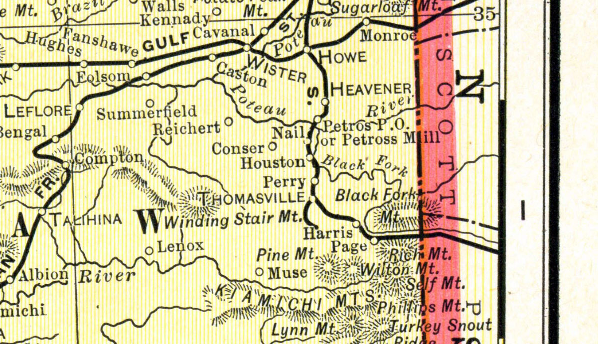 Leflore County Oklahoma Map.King Ryder Lumber Company At Thomasville Oklahoma Map Showing Tram