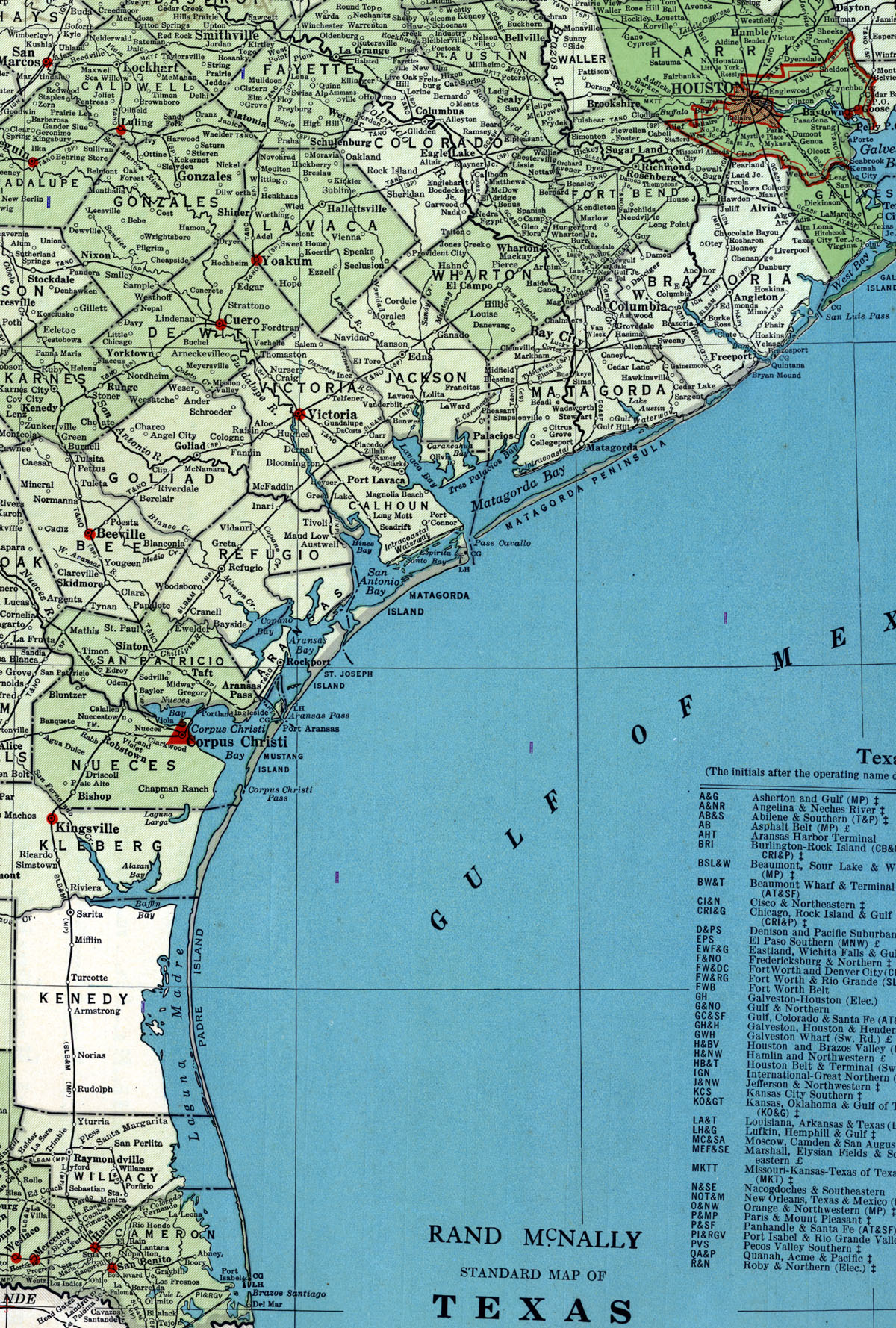 Louis Brownsville Mexico Railway Company Tex map showing