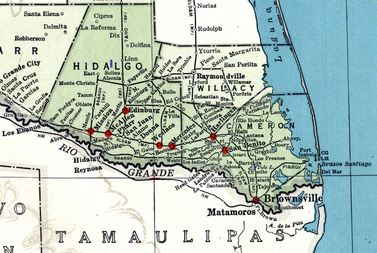 louis brownsville mexico railway pany tex map showing